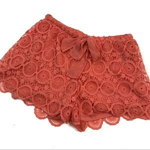 3/$25 HeartSoul Peach Lace Shorts